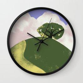 Lone Tree on a Hill Wall Clock