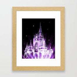 Enchanted Castle Purple Lavender Framed Art Print