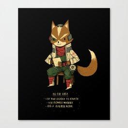 fox to-do-list Canvas Print