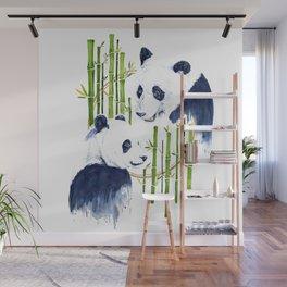 """""""Harmony"""" Panda and Bamboo Watercolor Wall Mural"""