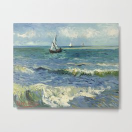 Seascape near Les Saintes Maries de la Mer by Vincent van Gogh Metal Print