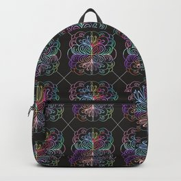 Abstract geometric rainbow colors watercolor floral Backpack