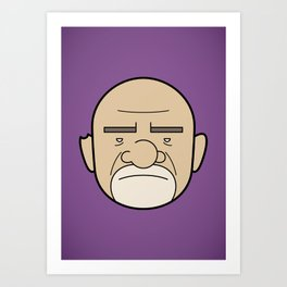 Faces of Breaking Bad: Mike Ehrmantraut Art Print