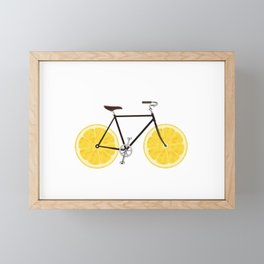 Lemon Bike Framed Mini Art Print