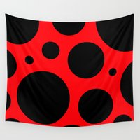 bug Wall Tapestries featuring Lady Bug by Naked N Pieces