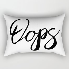 Oops Cute Word Art Rectangular Pillow
