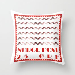 Norge Post Throw Pillow