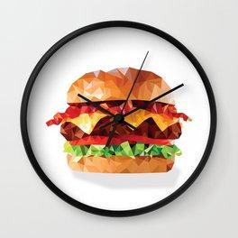 Geometric Bacon Cheeseburger Wall Clock