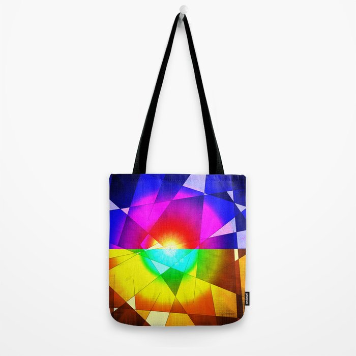 lined color flash Tote Bag