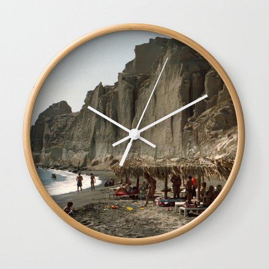 Eros Beach, Santorini Wall Clock