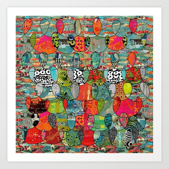 Color Riot Abstract Art Collage Art Print