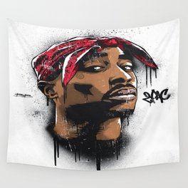Tupac's Potrait Wall Tapestry
