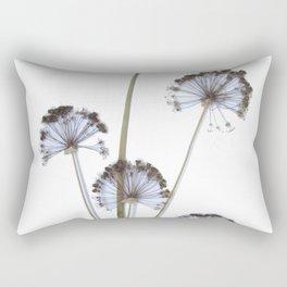 flowers on white background. botanical prints framed. Rectangular Pillow