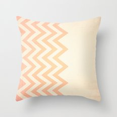 Orange Textured Chevron Throw Pillow