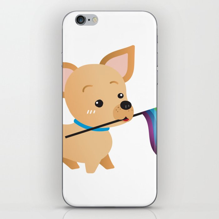 LGBT Gay Pride Flag Chihuahua iPhone Skin