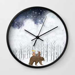 the white forest Wall Clock