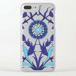 Turkish Tile Art Pattern Clear iPhone Case