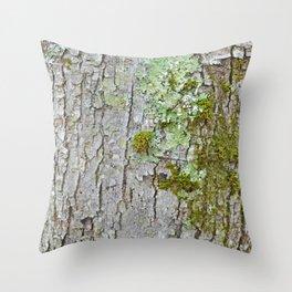 Mossy Bark Throw Pillow