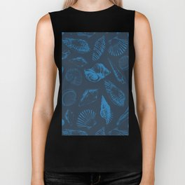 Tropical sea shells Biker Tank