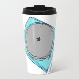 """Waxx"" Audiophile Turntable Blue Travel Mug"
