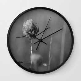 Clover black and white Wall Clock