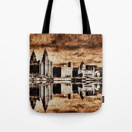 Liverpool Water front Skyline (Digital Art) Tote Bag