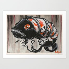 Koi Series, Naughty Boys get Punished...and like it Art Print
