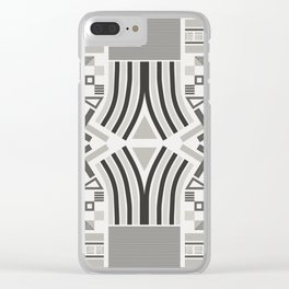 Festive pattern (black & white) Clear iPhone Case