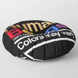 Human rights rainbow equality LGBT PRIDE BLACK LIVES MATTER Floor Pillow
