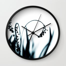 Grace - long grass and flowers Wall Clock