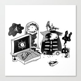 Halloween Flavored Pizza Canvas Print