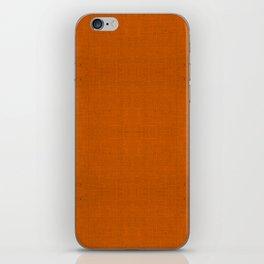 """""""Orange Burlap Texture Plane"""" iPhone Skin"""
