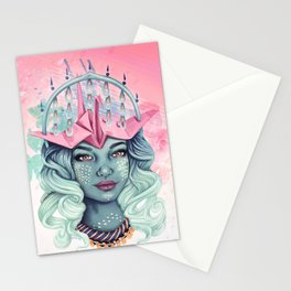 Tsuru Origami Girl Stationery Cards