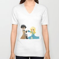 ouat V-neck T-shirts featuring OUAT - Captain Swan by Choco-Minto