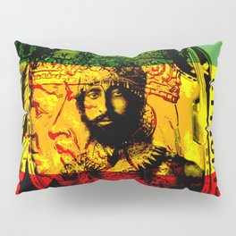 Haile Selassie Lion of Judah Pillow Sham