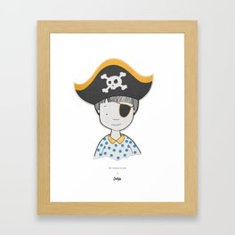 The bravest pirate Framed Art Print