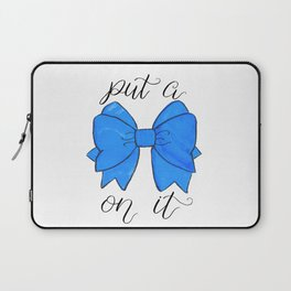 Blue Bow Laptop Sleeve