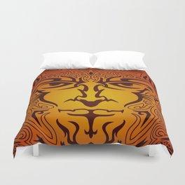 Lion Man Tribal Duvet Cover
