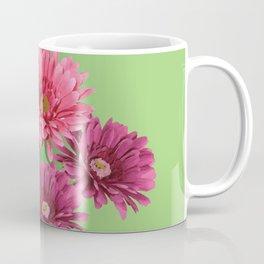 five Gerbra Flowes pink Coffee Mug