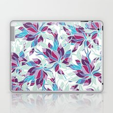 Modern purple turquoise fall floral pattern Laptop & iPad Skin