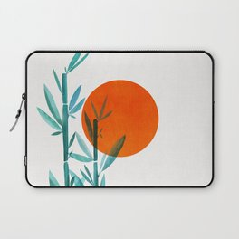 Bamboo Sunset Watercolor / Abstract Minimal Landscape Laptop Sleeve