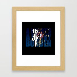 A heart is a heavy burden Framed Art Print