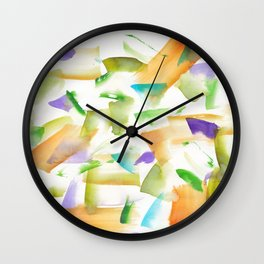 180719 Koh-I-Noor Watercolour Abstract 19art, modern, abstract, nordic, watercolour, watercolor,colo Wall Clock