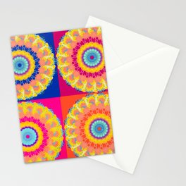 Four Squared medallions Stationery Cards