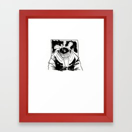 Empty spacesuit Framed Art Print