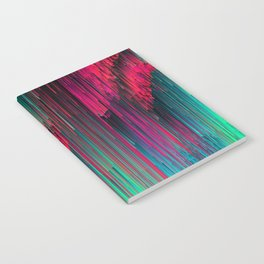Just Chillin' - Abstract Neon Glitch Pixel Art Notebook