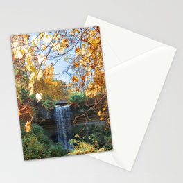 Minneahaha Falls and Fall Colors in Minneapolis Stationery Cards