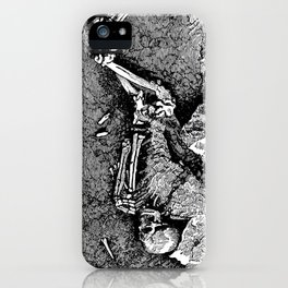 Remains of Prehistoric Man iPhone Case
