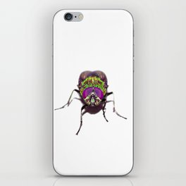 Purple Green Pschedelic Fly iPhone Skin