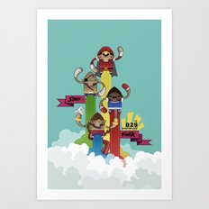 Street Fighter 25th Anniversary!!! Art Print